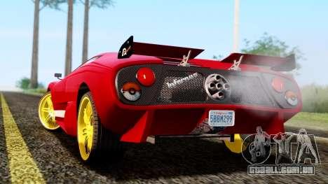 Pegassi Infernus Cento Miglia para GTA San Andreas esquerda vista