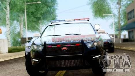 GTA 5 Vapid Police Interceptor v2 IVF para GTA San Andreas