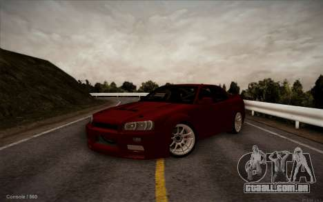 Nissan Skyline (ER34) 2015 para GTA San Andreas vista direita