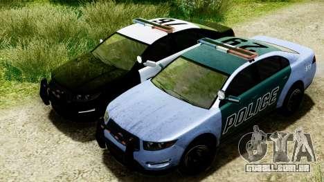 GTA 5 Vapid Police Interceptor v2 IVF para GTA San Andreas vista interior
