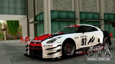 Nissan GT-R (R35) GT3 2012 PJ1 para GTA San Andreas vista superior