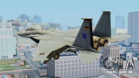 F-15C Eagle Luftwaffe JG 73 para GTA San Andreas esquerda vista