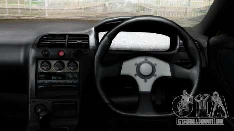 Nissan Skyline R33 Shiina Mashiro Itasha para GTA San Andreas vista direita