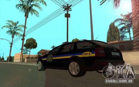 Skoda Octavia Scout DPS Ucrânia v2 para GTA San Andreas esquerda vista
