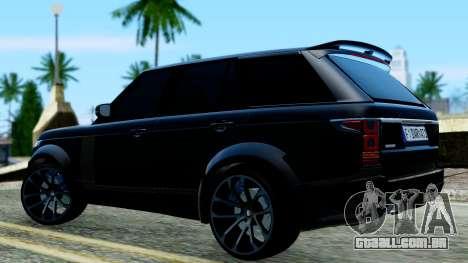 Range Rover Vogue Lumma Stratech para GTA San Andreas traseira esquerda vista