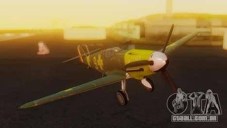 Messerschmitt Bf-109 E3 para GTA San Andreas vista traseira