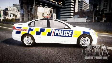 Holden VE Commodore SS Police HWP [ELS] para GTA 4 esquerda vista