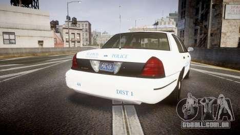 Ford Crown Victoria Metropolitan Police [ELS] para GTA 4 traseira esquerda vista