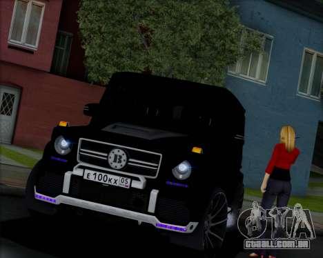 Brabus B65 Angry para GTA San Andreas vista traseira
