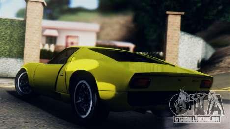 Lamborghini Miura P400 1967 para GTA San Andreas esquerda vista