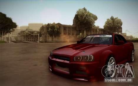 Nissan Skyline (ER34) 2015 para GTA San Andreas vista traseira