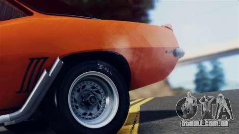 Chevrolet Camaro SS Dragster para GTA San Andreas vista interior