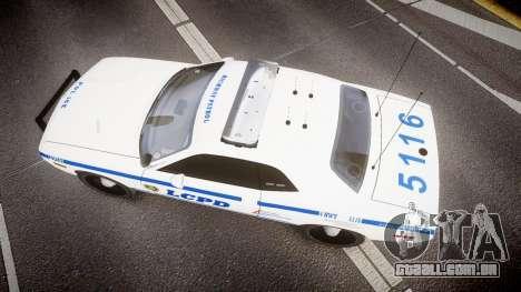Dodge Challenger LCPD [ELS] para GTA 4 vista direita