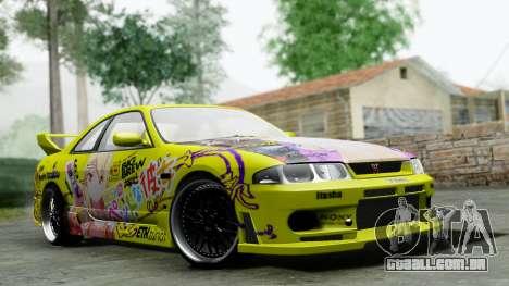 Nissan Skyline R33 Shiina Mashiro Itasha para GTA San Andreas