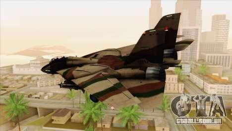 Grumman F-14A IRIAF para GTA San Andreas esquerda vista
