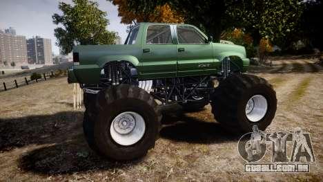 Albany Cavalcade FXT Monster Truck para GTA 4 esquerda vista