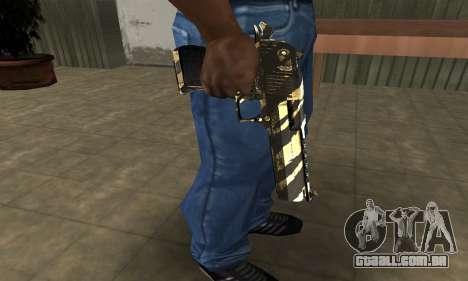 Gold Lines Deagle para GTA San Andreas