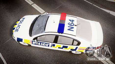 Holden VE Commodore SS Police HWP [ELS] para GTA 4 vista direita