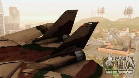 Grumman F-14A IRIAF para GTA San Andreas traseira esquerda vista