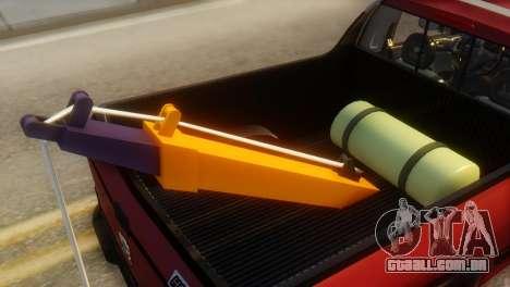 Peugeot 206 TowTruck para GTA San Andreas vista interior