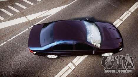 Ford Falcon XR8 2004 Unmarked Police [ELS] para GTA 4 vista direita