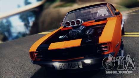 Chevrolet Camaro SS Dragster para GTA San Andreas traseira esquerda vista