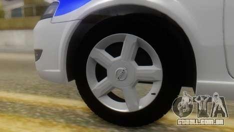 Nissan Almera Iraqi Police para GTA San Andreas traseira esquerda vista