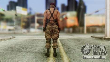 Jack Krauser Skin from Resident Evil para GTA San Andreas terceira tela