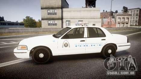 Ford Crown Victoria Metropolitan Police [ELS] para GTA 4 esquerda vista