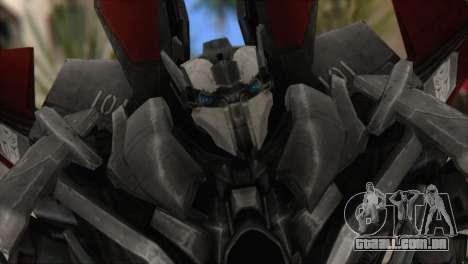 Air Raide Skin from Transformers para GTA San Andreas terceira tela