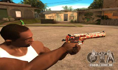 Red Splash Deagle para GTA San Andreas segunda tela