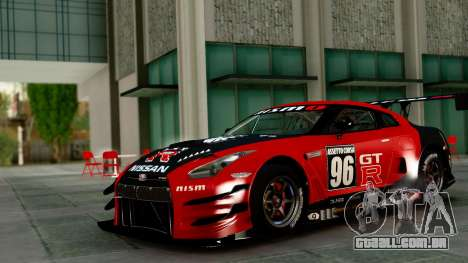 Nissan GT-R (R35) GT3 2012 PJ1 para vista lateral GTA San Andreas