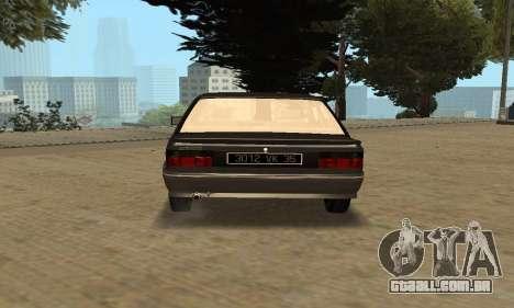 Renault 9 TSE 1992 para GTA San Andreas vista traseira
