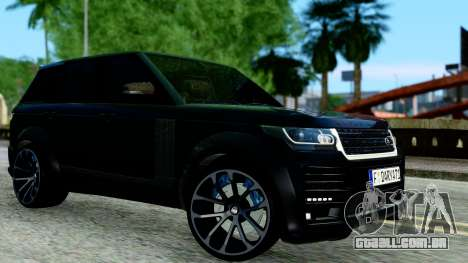 Range Rover Vogue Lumma Stratech para GTA San Andreas esquerda vista