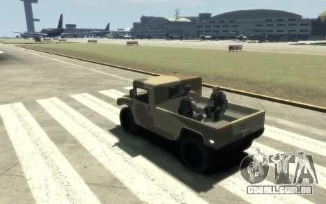 GTA 5 Millitary Patriot para GTA 4 vista de volta