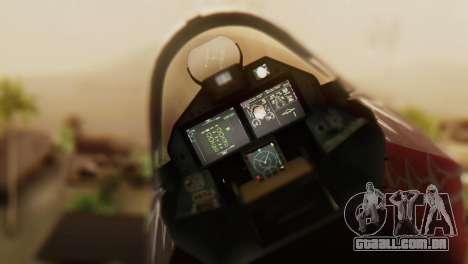 T-50 PAK-FA -Akula- para GTA San Andreas vista traseira