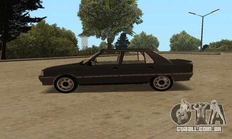Renault 9 TSE 1992 para GTA San Andreas traseira esquerda vista