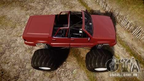 Albany Cavalcade FXT Cabrio Monster Truck para GTA 4 vista direita