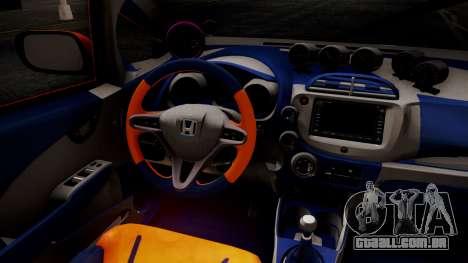 Honda Fit Street Modify Inori Yuzuriha Itasha para GTA San Andreas vista direita