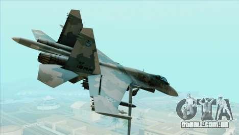 Sukhoi SU-35BM Mobius Squadron para GTA San Andreas esquerda vista