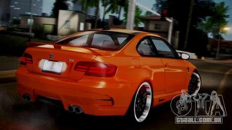 BMW M3 E92 Hamman para GTA San Andreas esquerda vista
