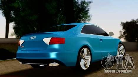 Audi S5 para GTA San Andreas traseira esquerda vista