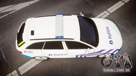 Audi S4 Avant Belgian Police [ELS] para GTA 4 vista de volta