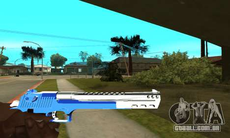 Blue Cool Deagle para GTA San Andreas terceira tela