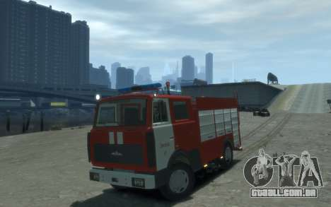 MAZ 533702 Fogo Lipetsk para GTA 4