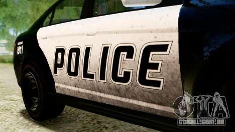 GTA 5 Vapid Police Interceptor v2 IVF para GTA San Andreas vista direita