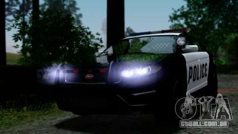 GTA 5 Vapid Police Interceptor v2 IVF para GTA San Andreas vista superior