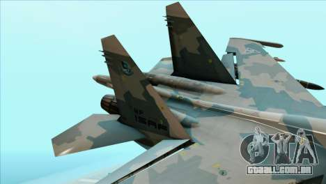 Sukhoi SU-35BM Mobius Squadron para GTA San Andreas traseira esquerda vista