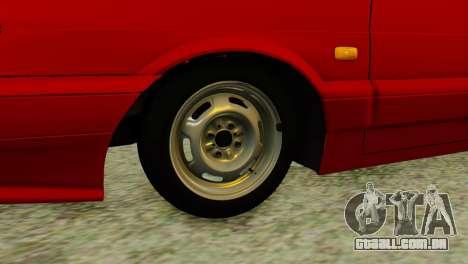 2114 para GTA San Andreas traseira esquerda vista
