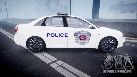 Audi S4 Serbian Police [ELS] para GTA 4 esquerda vista